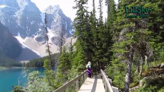 Virtual Hike: Moraine Lake Banff National Park, Alberta -Actual Sound/18min
