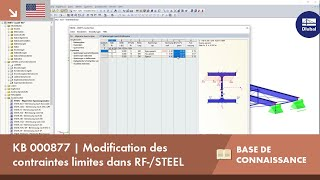 [EN] KB 000877 | Modification des contraintes limites dans RF-/STEEL