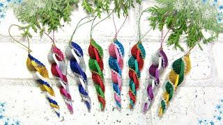Очень простые новогодние игрушки из фоамирана / Easy Diy Christmas Ornaments Foam