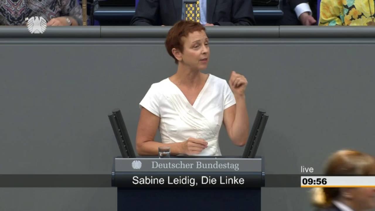 Rede von Sabine Leidig am 9. September 2016 im Deutschen Bundestag zum Thema Zu viel Geld fließt in falschen Verkehr