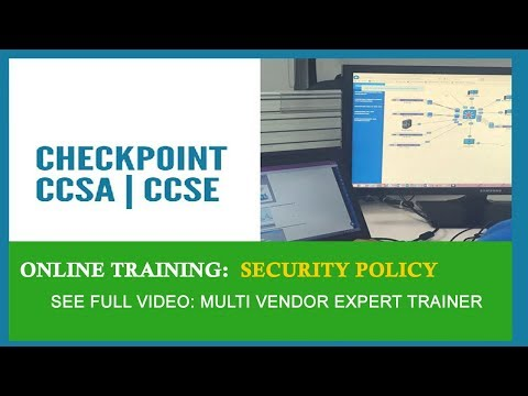 CCSA Training Video | Checkpoint Firewall Training | Security Policy ...