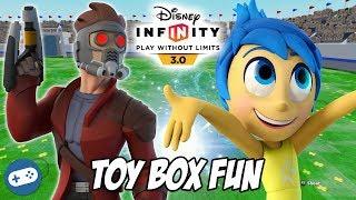 Joy And Star Lord Disney Infinity 3.0 Toy Box Fun Gameplay