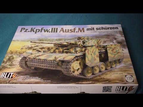 WWII german Tank Panzer Pz.Kpfw III Ausf M mit Schürzen  1:35 Takom 8002 Neu