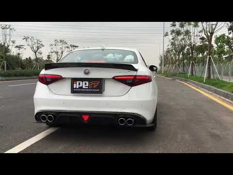 The iPE exhaust for Alpha Remeo Giulia