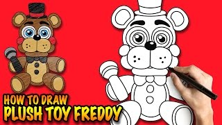How to draw Plush Toy Freddy - FNAF - Easy step-by-step drawing tutorial