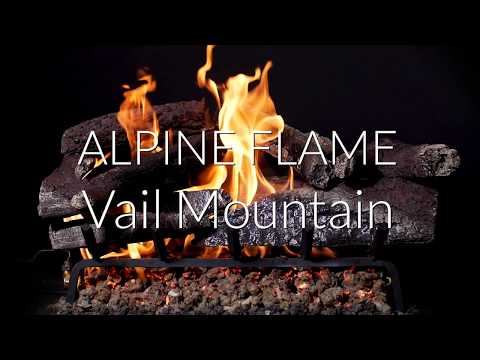 Alpine Flame Vail Mountain Vented Gas Log Set