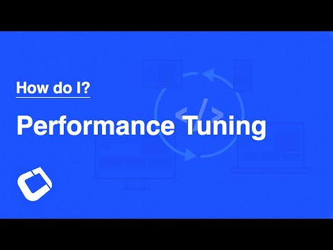 Improve application performance or track down performance issues
