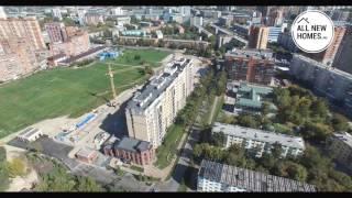 «Бульварный переулок» в Новосибирске. Вид с воздуха