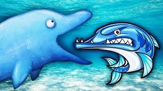 Tasty Blue ДЕЛЬФИНЧИК НЯМКА против ЗУБАСТОЙ БАРРАКУДЫ Мульт игра про ГОЛОДНУЮ РЫБКУ Съесть Океан