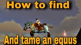 How to find and tame an equus|| Arkmobile || Element-G