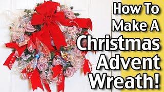 Dollar Tree DIY - How To Make A Christmas Advent Wreath
