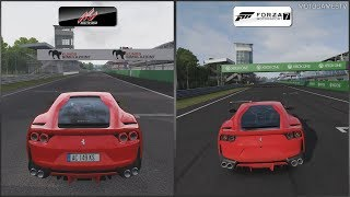 Assetto Corsa vs Forza Motorsport 7 - Ferrari 812 Superfast at Monza