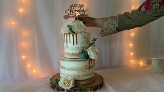 How To Make A Two Tiered Semi Naked Wedding Cake
