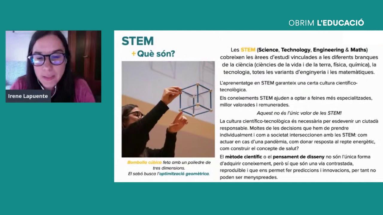 Com oferir activitats STEM que elevin expectatives i obrin nous horitzons? Amb Irene Lapuente.
