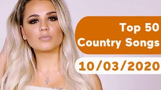 US Top 50 Country Songs (October 3, 2020)