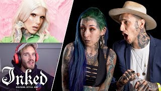 Tattoo Artists React to YouTuber's Tattoos   Tattoo Artists Answer