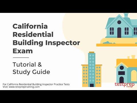 California residential building inspector Tutorial - YouTube