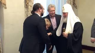Встреча Председателя МФП Антонцева М.И. с Патриархом на Кремлёвской Ёлке