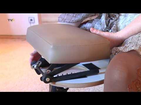 Wellness auf engstem Raum: Massagehocker Tara Lima - eine Erfindung aus Oberstdorf.