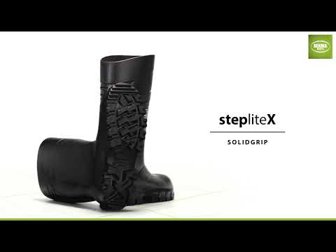 StepliteX SolidGrip, non-metallic toe cap and midsole (S5), black