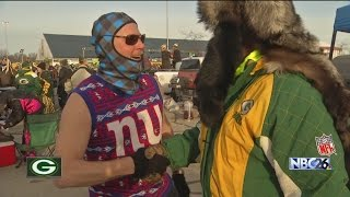 Fans Brave the Cold to Watch Packers Beat Giants