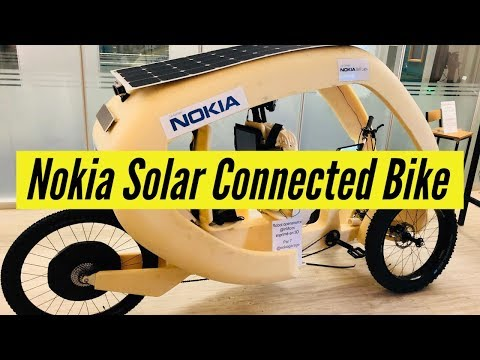 Nokia Solar Connected Bike First Look | CES 2019