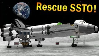 Rescuing a Mun lander with a cargo SSTO!  - KSP 1.3