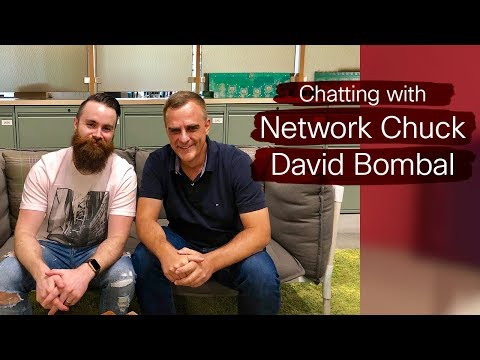Network Chuck and David Bombal on Cisco