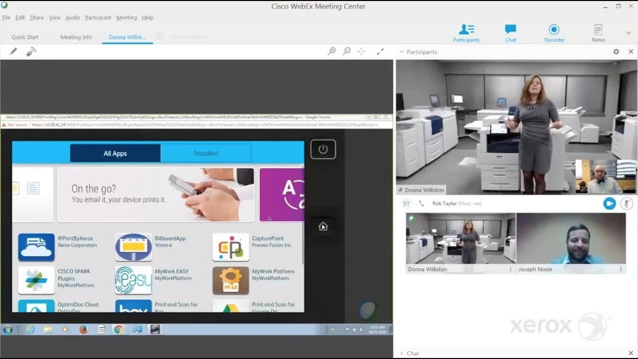 Xerox Virtual Office Product Demo YouTube Video