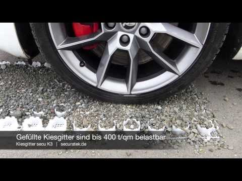 Kiesgitter secu K3 - Bodenwabe zur Stabilisierung von Kies, Schotter und Splitt