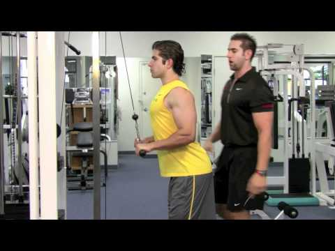 CABLE TRICEP EXTENSION STRAIGHT BAR