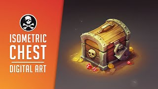 ISOMETRIC CHEST For Game ● Digital Drawing Process ● Photoshop [ Sephiroth Art ]