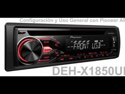 DEH X1850UB Configuracin y Uso General   Pioneer ARC en Android