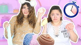 60 SECONDS SLIME CHALLENGE | MAKING FOUR SLIMES | Slimeatory #75