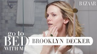 Brooklyn Deckers Nighttime Skincare Routine | Go To Bed With Me | Harpers BAZAAR
