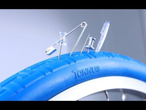 Puncture Proof Tires faceoff Tannus Mini Velo vs Schwalbe Marathon Plus