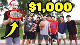 First to Win 1v1 Basketball WINS $1000 vs Strangers!