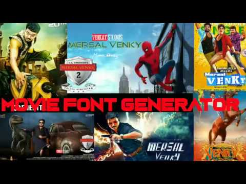 How to design Mersal Font Style Name in 10 Seconds using Linksind