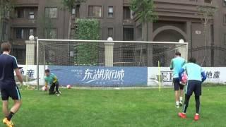 Ball fangen und flacher Ball rechte Seite
