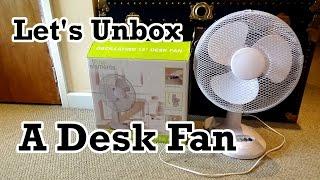 "Let's Unbox (& Assemble): Fine Elements 12"" Oscillating Desk Fan (Model COL1021)"
