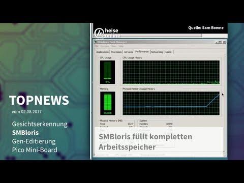 Topnews 2.8.2017: Gesichtserkennung, SMBloris, Gen-Editierung, Pico Mini-Board