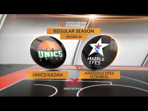 EuroLeague Highlights RS Round 24: Unics Kazan 92-99 OT Anadolu Efes Istanbul