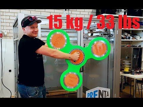 超狂設計師3D列印製作巨型【指尖陀螺】~