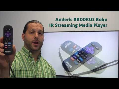 ANDERIC RR00KU3 for ROKU IR Streaming Media Player Remote Control