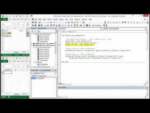 How to Write VBA Macros to Copy and Paste Cells in Excel - Part 1 of 3