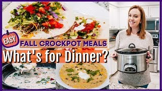 WHAT'S FOR DINNER? | CROCKTOBER 2019 | FALL CROCKPOT RECIPES
