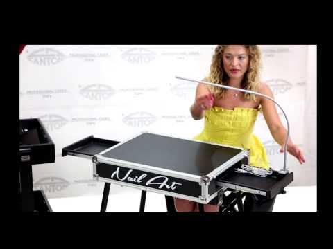 video SET VT-NAIL COMPLETE Table onglerie transportable + 2 Tabourets + Housse