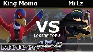 King Momo (Falco) Vs. MrLz (Marth) - Melee Losers Top 8 - TNS7