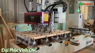 Máy mộng âm cnc 5x2 Woodmaster | máy làm mộng bàn dài 3,2 mét