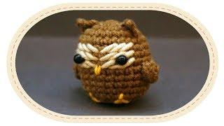 Вязаная сова амигуруми. Crochet Owl Amigurumi.